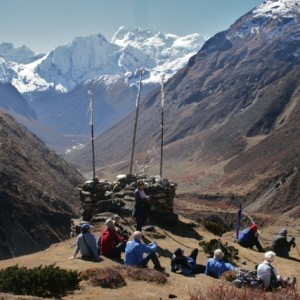 Kev Reynolds is Trekking In The Himalaya