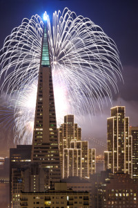 Transamerica Pyramid - New Year's Eve Fireworks-2