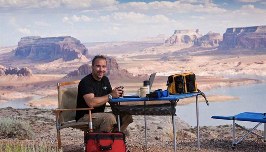 Jim Markel on location