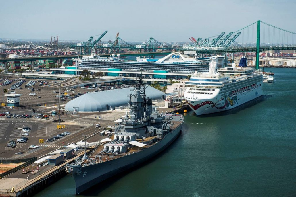 Places The Port Of Los Angeles And Battleship Iowa
