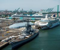 Places -- The Port of Los Angeles and Battleship Iowa