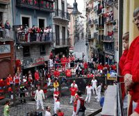 Pamplona, Spain, Has Fun, No Bulls