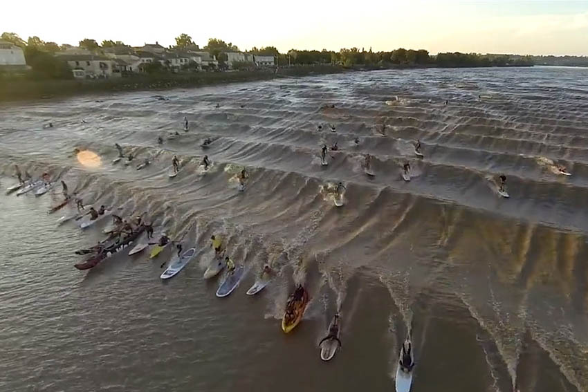 Tidal Bore surfing